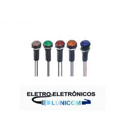 SINALEIRO LED 13MM DP11 12V  (CORES )