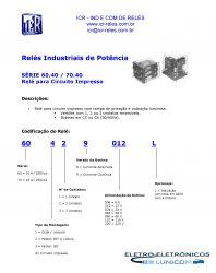 RELE DE POTENCIA ICR 6042.9012 2CT REV 10A 12VCC  P/ CIRCUITO IMPRESSO