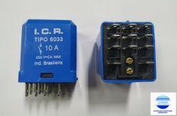 RELE ICR 6033.8220 220VAC 3 CONT. REV. 10A/250V TERM 4,8MM