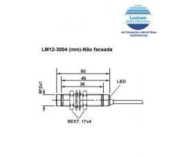 SENSOR INDUTIVO BHS  LM12-3004NC NPN M12 4MM NA+NF 4 FIOS CABO 2MTS