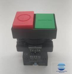 BOTAO DUPLO  HB2-EL8425   VERMELHO/VERDE (FACEADO)