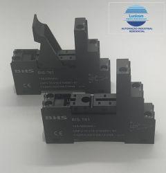 BASE BIS-T61 5 PINOS P/ RELE BRF-15 MONTAGEM TRILHO DIN