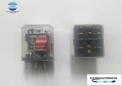 RELE ICR 7033.9012 12VCC 3 CONT. REV. 16A/250V TERM 4,8MM