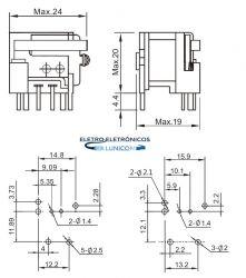 RELE INDUSTRIAL YA317-C-12V 40/30A P/PCI SELADO