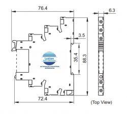 RELE MODULAR DE INTERFACE HF41F 24V DC/AC 6AMP HONGFA